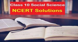 ncert class 10 social science solutions